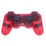 Dual Shock 3 Wireless Bluetooth Six AXIS Game Controller for PS3 Transparent Red
