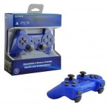 Wireless Bluetooth Six Axis Dual Shock 3 Controller for PS3 Blue