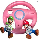 Steering Wheel for Wii MARIO KART Racing Games -Pink