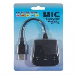 Universal MIC Microphone Converter For PS2/PS3/Xbox360/Wii/PC Black