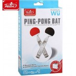 (PEGA) 2pcs Simulative Ping Pong Bat Racket Kit For Nintendo Wii Table Tennis Game GWI-35685