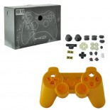 Full Housing Case Replacement with Buttons for PS3 Wireless Controller Gold