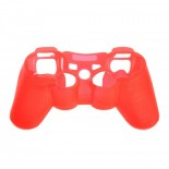 Protective Silicone Case Cover for PS3 Controller Red