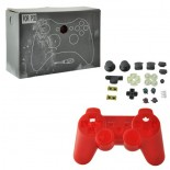 Full Housing Case Replacement with Buttons for PS3 Wireless Controller Red