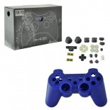 Full Housing Case Replacement with Buttons for PS3 Wireless Controller Purple