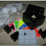 Dayan 5 Mini Zhanchi 50mm  DIY 3x3x3  Magic Cube Kit With Color Stickers Black