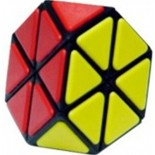 QJ Tetraminx Magic Puzzle Cube Tiled Black