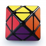 Lanlan 2-Layer Octahedral Skewb Diamond Magic Cube Black