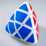 Lanlan 4-color Pillowed Shape Master Pyramorphix Puzzle Speed Cube White