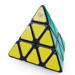 QJ Pyraminx Sticker Puzzle Cube Black