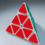 QJ Pyraminx Cube With Plastic Tile - White