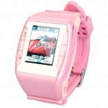 N688 GSM Wrist Watch Phone w/1.3-inch Resistive Screen, Quad band, Bluetooth V2.0 And FM - Pink