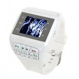 1.33-inch Touch Screen Wrist Watch Style Dual SIM Dual Network Standby Quadband GSM Cell Phone - White