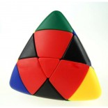 Lanlan Color I 4-color Pillowed Shape Master Pyramorphix Puzzle Speed Cube Black