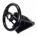 Black Multi-axis Steering Racing Wheel Stand for Nintendo Wii Remote